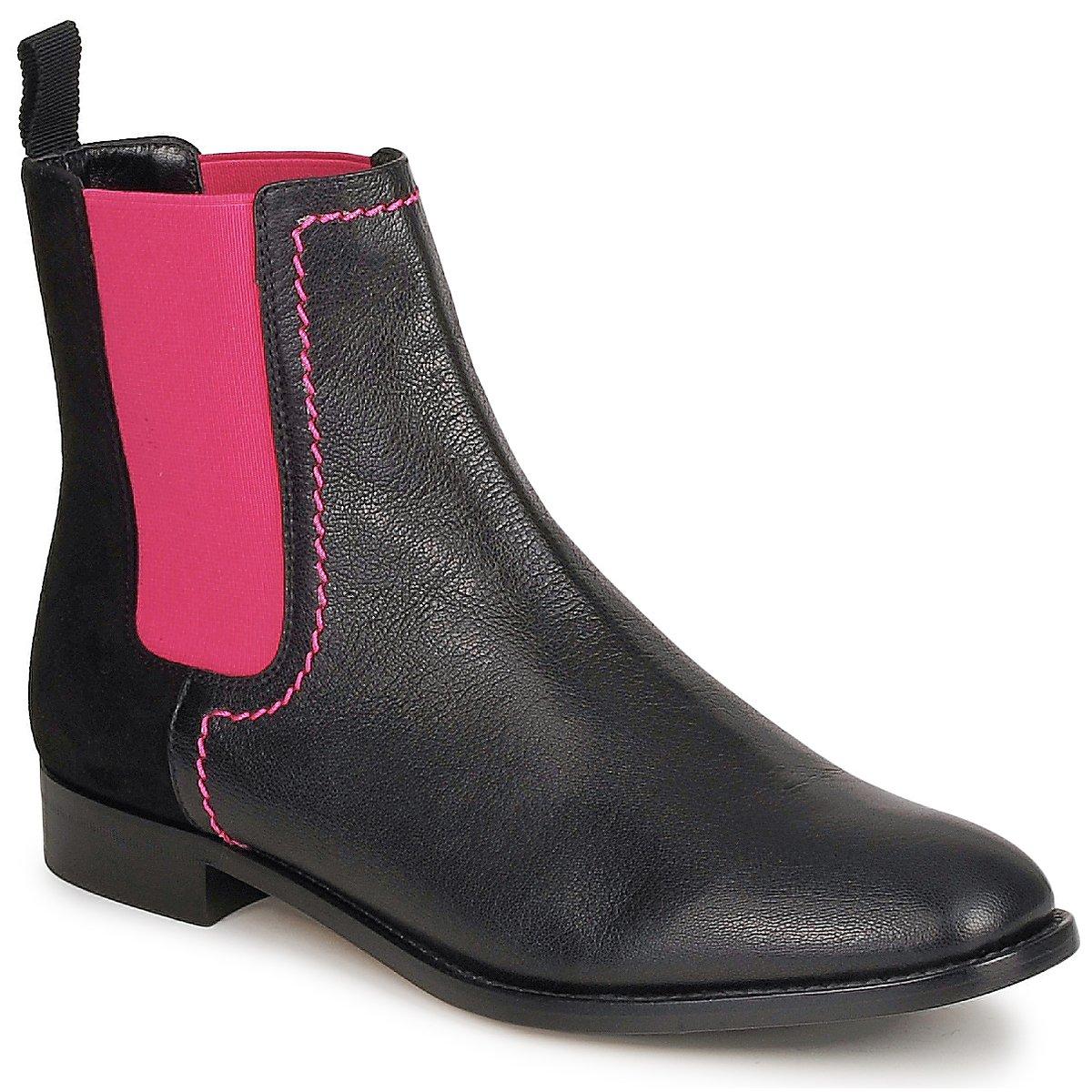 Kotnikove boty Moschino Cheap & CHIC CA2112 Černá / Růžová