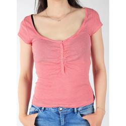 Textil Ženy Trička s krátkým rukávem Lee L428CGXX red, white