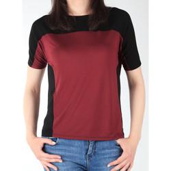 Textil Ženy Trička s krátkým rukávem Lee Color Block T L40XJMLL black, burgundy