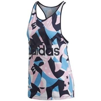 Textil Ženy Tílka / Trička bez rukávů  adidas Originals W Sid Tank Aop Černé, Modré, Růžové