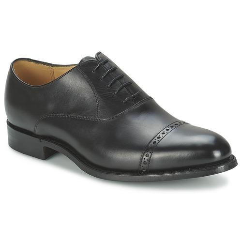 Boty Muži Šněrovací společenská obuv Barker BURFORD Černá