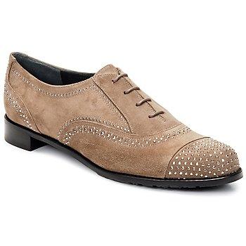Boty Ženy Šněrovací společenská obuv Stuart Weitzman DERBY Béžová