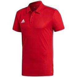 Textil Muži Polo s krátkými rukávy adidas Originals Core 18 Červená