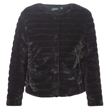 Textil Ženy Kabáty Lauren Ralph Lauren FAUX CHUBBY Černá