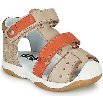 Boty Chlapecké Sandály GBB EUZAK Béžová / Oranžová