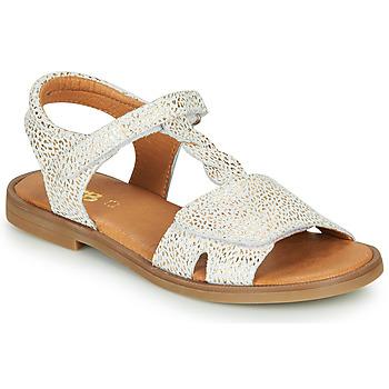 Boty Dívčí Sandály GBB FARENA Bílá / Zlatá