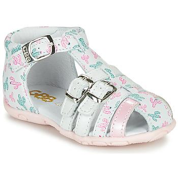 Boty Dívčí Sandály GBB RIVIERA Bílá / Růžová