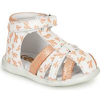 Boty Dívčí Sandály GBB AGRIPINE Bílá / Oranžová