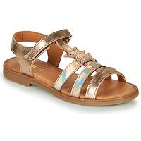 Boty Dívčí Sandály GBB OLGA Růžová / Zlatá
