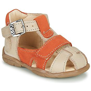 Boty Chlapecké Sandály GBB SEROLO Béžová / Oranžová