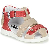 Boty Chlapecké Sandály GBB BASILA Červená / Béžová