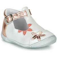 Boty Dívčí Baleríny  GBB ANAXI Bílá / Růžová / Zlatá