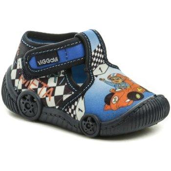 Boty Chlapecké Bačkůrky pro miminka Vi-Gga-Mi modré dětské plátěné bačkůrky FORMULE Modrá