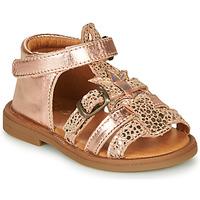 Boty Dívčí Sandály GBB CARETTE Růžová / Zlatá
