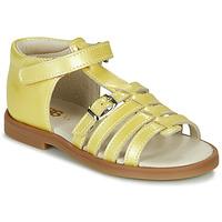 Boty Dívčí Sandály GBB ANTIGA Žlutá