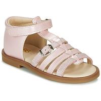 Boty Dívčí Sandály GBB ANTIGA Růžová
