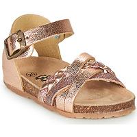 Boty Dívčí Sandály GBB ALECTA Růžová / Zlatá