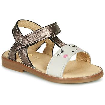 Boty Dívčí Sandály GBB NAZETTE Béžová / Bronzová