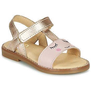 Boty Dívčí Sandály GBB NAZETTE Růžová