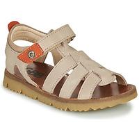 Boty Chlapecké Sandály GBB PATHE Béžová
