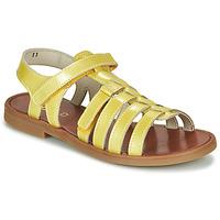 Boty Dívčí Sandály GBB KATAGAMI Žlutá