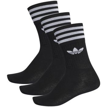 Spodní prádlo Ponožky adidas Originals Solid crew sock 3 pack Černá