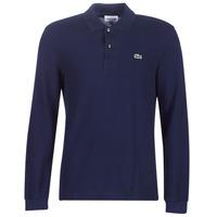 Textil Muži Polo s dlouhými rukávy Lacoste L1312 Tmavě modrá