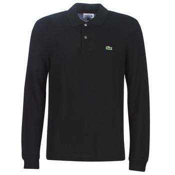 Textil Muži Polo s dlouhými rukávy Lacoste L1312 Černá