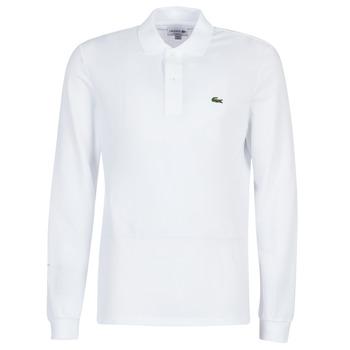 Textil Muži Polo s dlouhými rukávy Lacoste L1312 Bílá