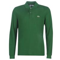 Textil Muži Polo s dlouhými rukávy Lacoste L1312 Zelená