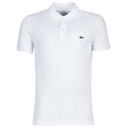 Textil Muži Polo s krátkými rukávy Lacoste PH4012 SLIM Bílá