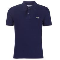 Textil Muži Polo s krátkými rukávy Lacoste PH4012 SLIM Tmavě modrá