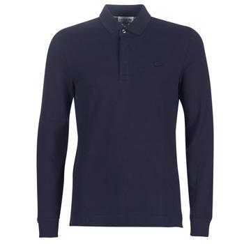 Textil Muži Polo s dlouhými rukávy Lacoste PH2481 REGULAR Tmavě modrá