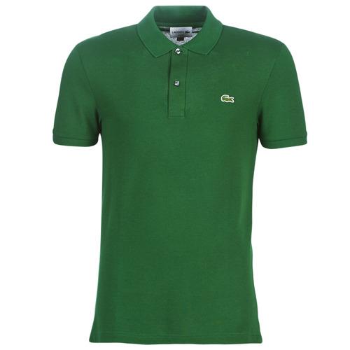 Textil Muži Polo s krátkými rukávy Lacoste PH4012 SLIM Zelená