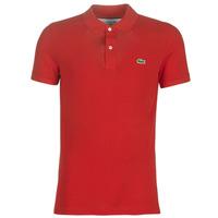 Textil Muži Polo s krátkými rukávy Lacoste PH4012 SLIM Červená