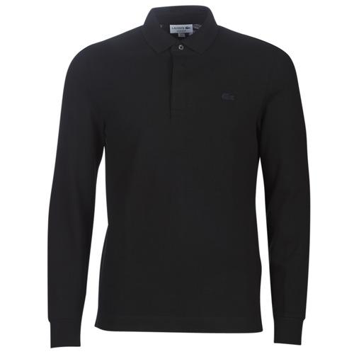Textil Muži Polo s dlouhými rukávy Lacoste PH2481 REGULAR Černá
