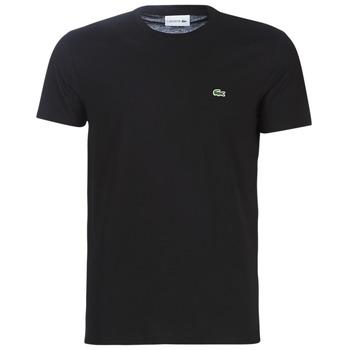Textil Muži Trička s krátkým rukávem Lacoste TH6709 Černá