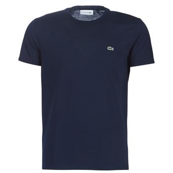 Textil Muži Trička s krátkým rukávem Lacoste TH6709 Tmavě modrá