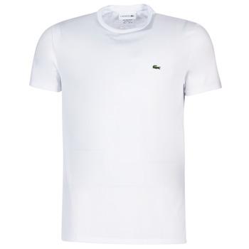 Textil Muži Trička s krátkým rukávem Lacoste TH6709 Bílá