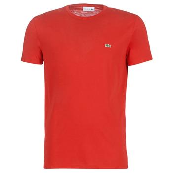 Textil Muži Trička s krátkým rukávem Lacoste TH6709 Červená