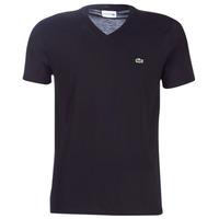 Textil Muži Trička s krátkým rukávem Lacoste TH6710 Černá