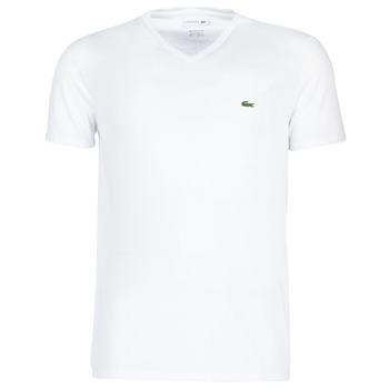 Textil Muži Trička s krátkým rukávem Lacoste TH6710 Bílá