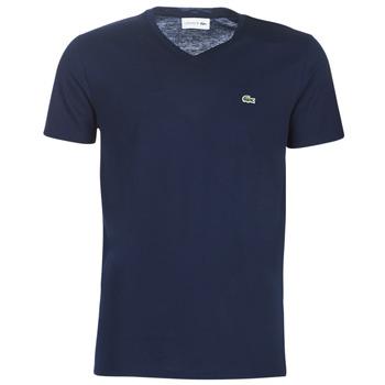 Textil Muži Trička s krátkým rukávem Lacoste TH6710 Tmavě modrá