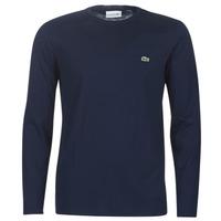 Textil Muži Trička s dlouhými rukávy Lacoste TH6712 Tmavě modrá