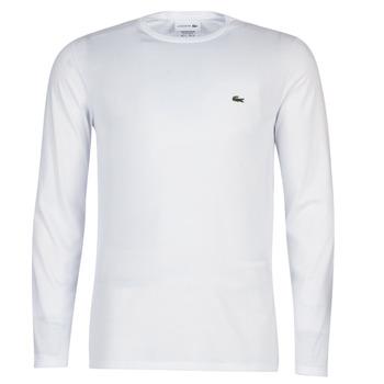 Textil Muži Trička s dlouhými rukávy Lacoste TH6712 Bílá