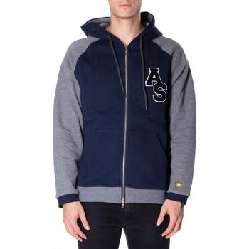Textil Muži Mikiny Atlantic Star Apparel FELPA col-2-blu-grigio