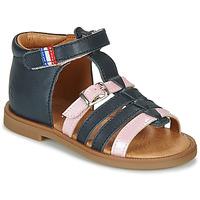 Boty Dívčí Sandály GBB GUINGUETTE Tmavě modrá / Růžová