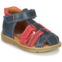 Boty Chlapecké Sandály GBB MACARON Tmavě modrá / Červená