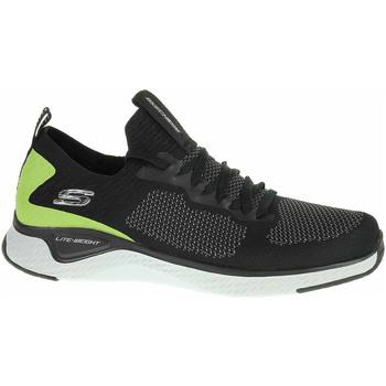 Boty Muži Nízké tenisky Skechers Solar Fuse - Valedge black-lime Černá