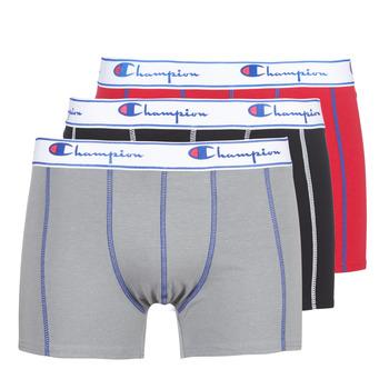 Spodní prádlo  Muži Boxerky Champion BOXER UNIS PACK DE 3 Červená / Šedá / Černá